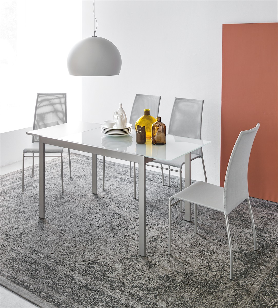 Tavolo aladino 120 vetro connubia by calligaris linea for Catalogo calligaris