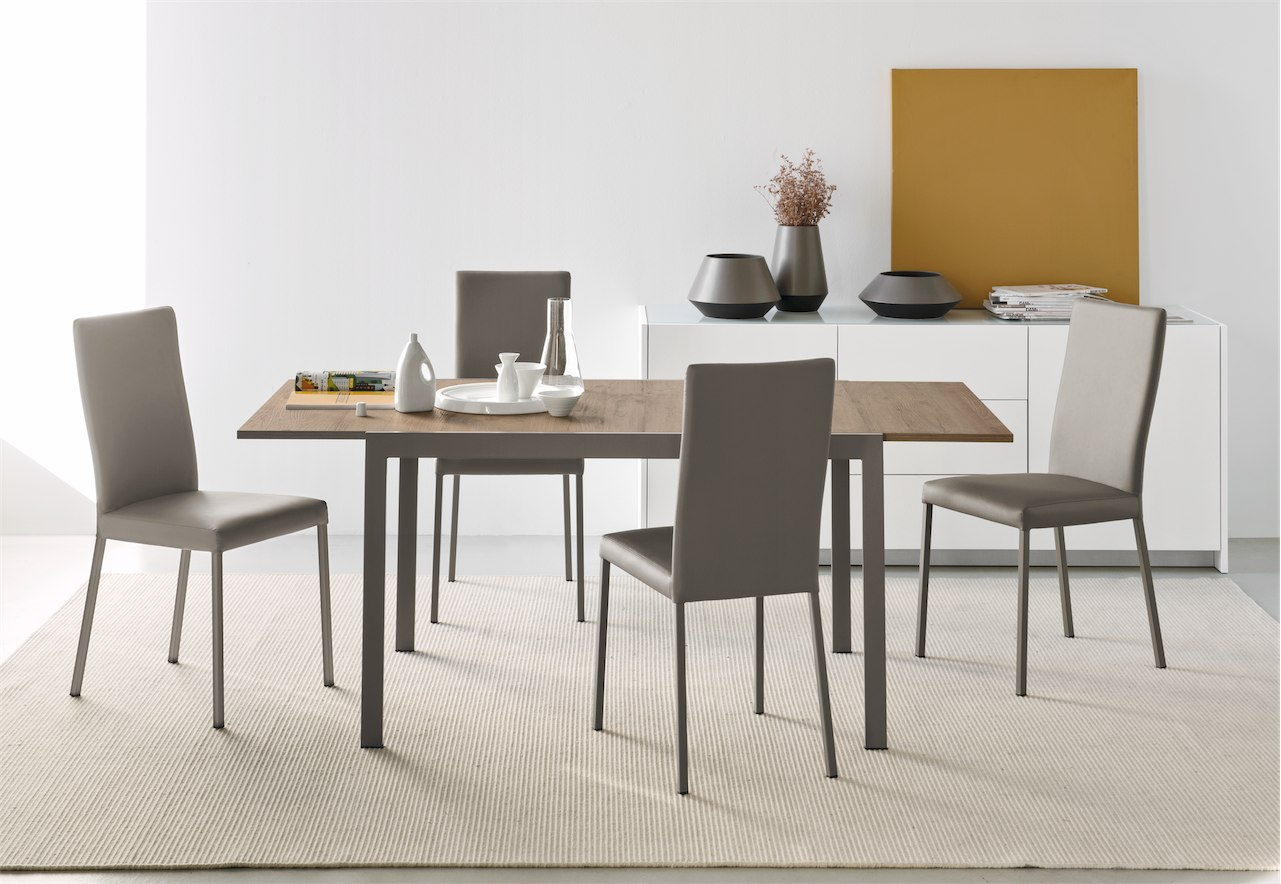 Tavolo aladino 110 legno connubia by calligaris linea for Calligaris connubia