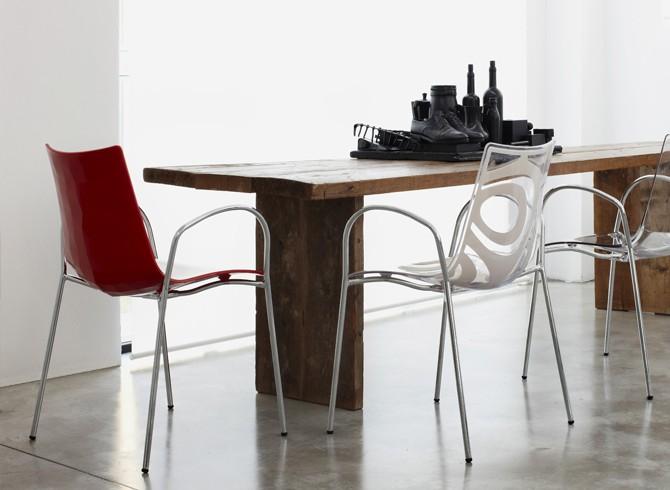 Sedie Con Braccioli Design.Sedia Zebra Bicolore Con Braccioli Scab Design