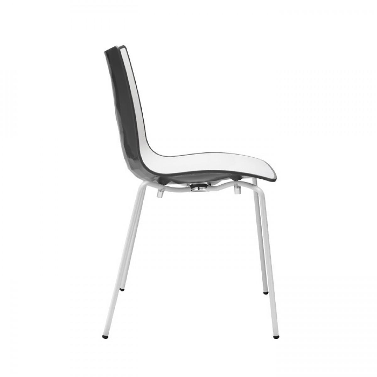 Sedie Bianche E Acciaio.Sedia Zebra Bicolore Scab Design