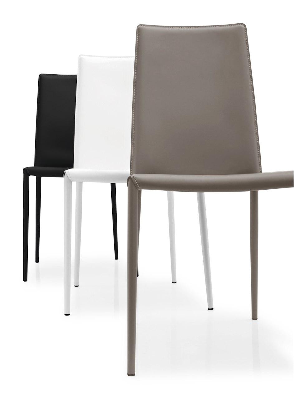 Sedia boheme connubia by calligaris linea tavoli e sedie for Sedie calligaris pelle