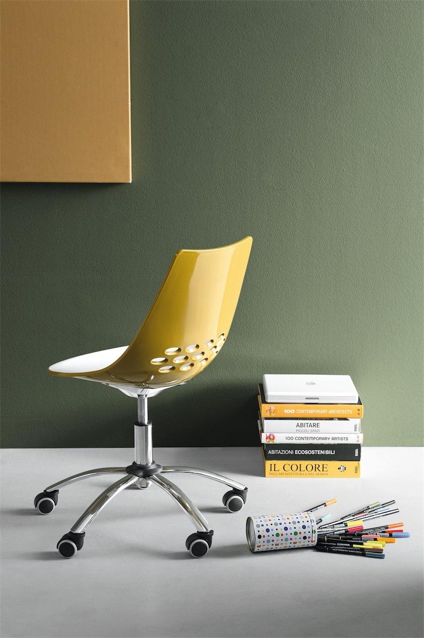 Sedia Jam con ruote Connubia by Calligaris - linea tavoli e sedie